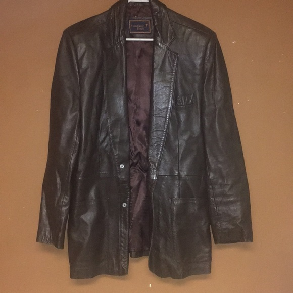 Hunting Horn Other - Vintage Hunting Horn Leather Blazer Size 40